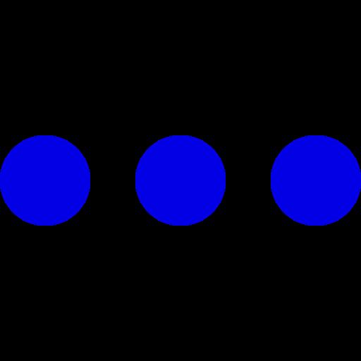 Icône de menu cercles bleus (symbole png)