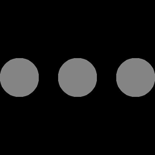 Icône de menu cercles gris (symbole png)