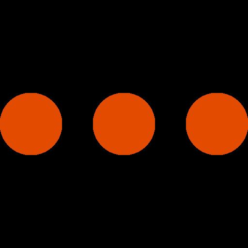 Icône de menu cercles orange (symbole png)