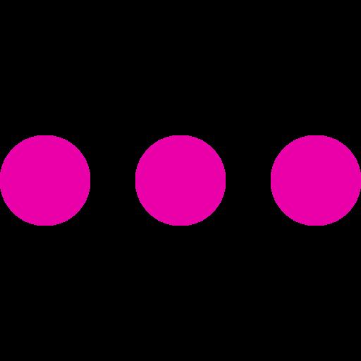 Icône de menu de cercles roses (symbole png)