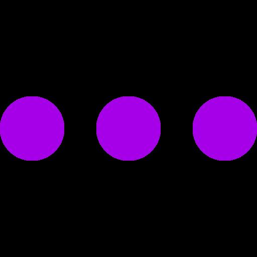 Icône de menu cercles violets (symbole png)