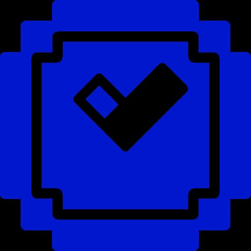 Icône Minecraft (symbole Png) bleu