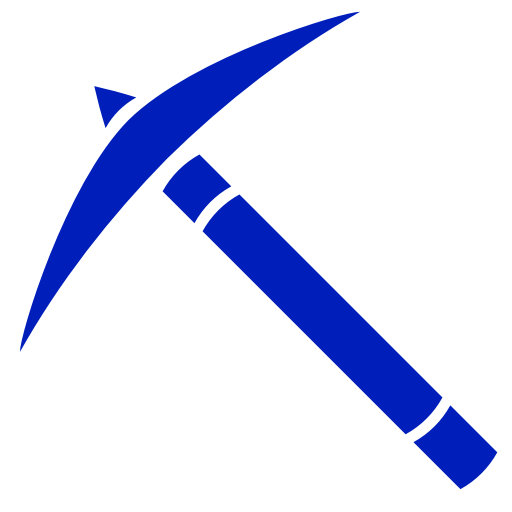 Icône de Minecraft (symbole Png) bleu pick