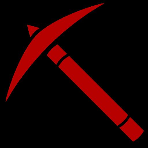 Icône de Minecraft (symbole png) rouge pick