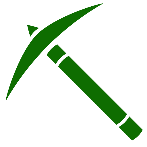 Icône de Minecraft (symbole png) vert pick