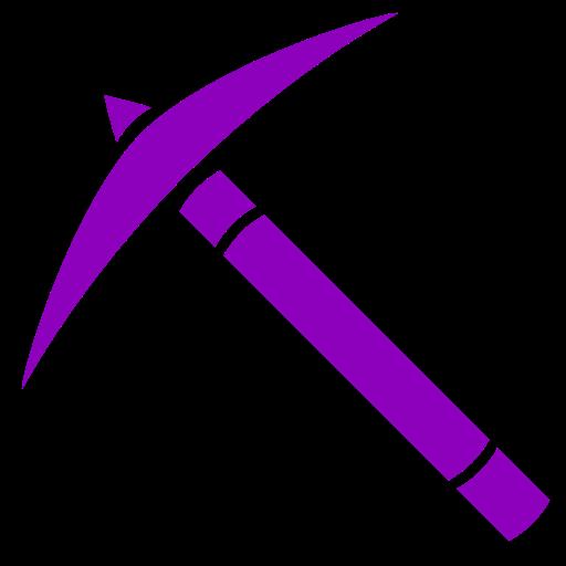 Icône de Minecraft (symbole png) violet pick