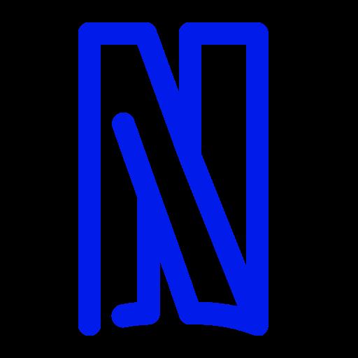 Icône Netflix (symbole du logo png) bleu