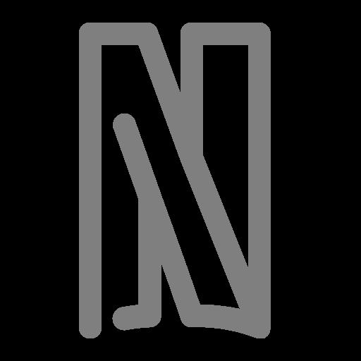 Icône Netflix (symbole du logo png) grise