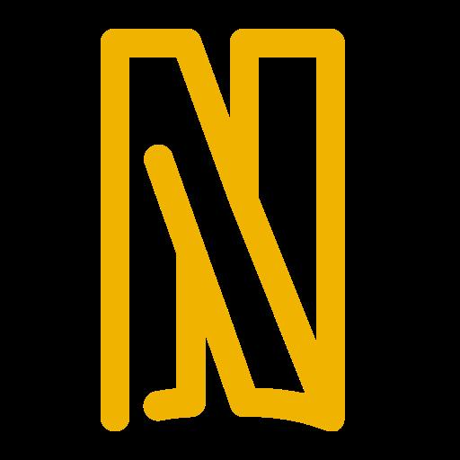Icône Netflix (symbole du logo png) jaune