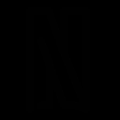 Icône Netflix (symbole du logo png) noir