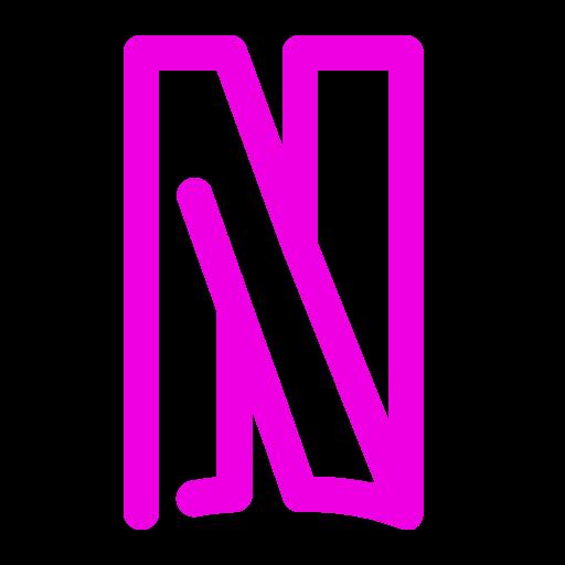 Icône Netflix (symbole du logo png) rose