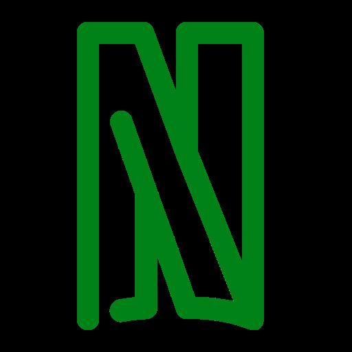 Icône Netflix (symbole du logo png) vert