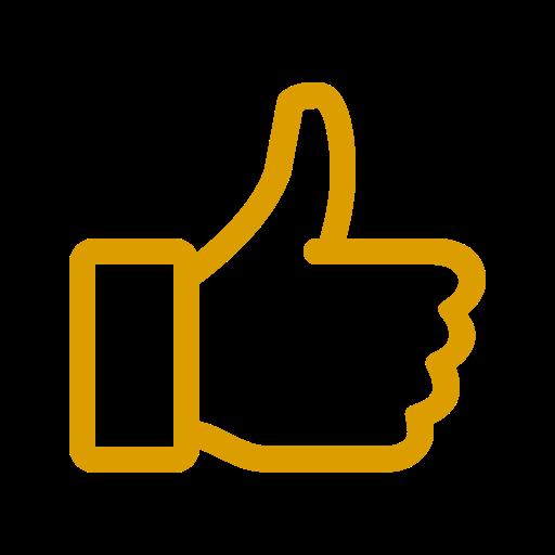 Icône jaune comme (symbole png)