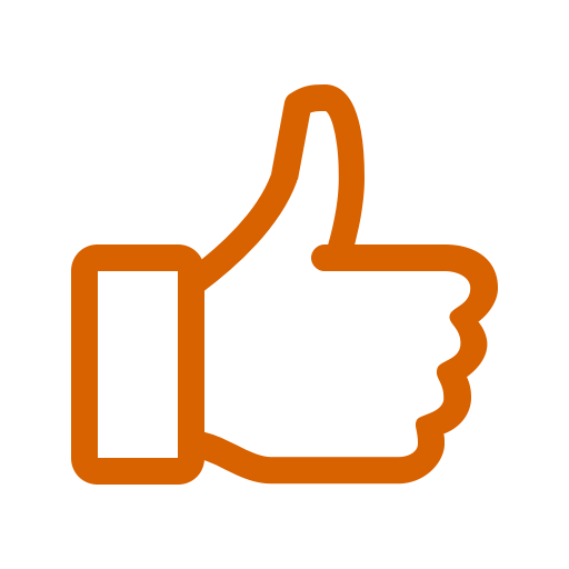Icône orange comme (symbole png)