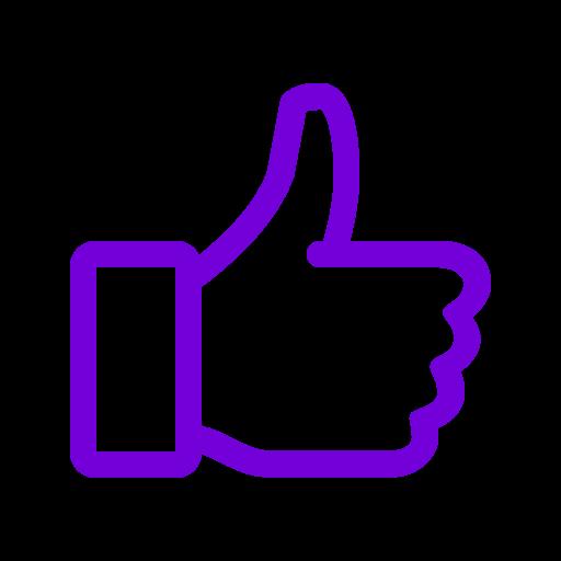 Violet comme icône (symbole png)