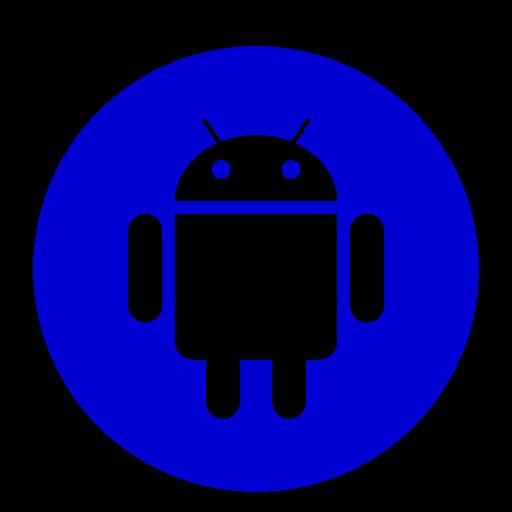 Icône de robot Android (symbole du logo png) bleu