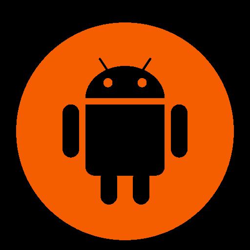 Icône de robot Android orange (symbole du logo png)