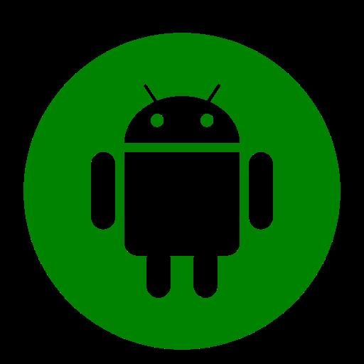 Icône de robot Android (symbole du logo png) vert