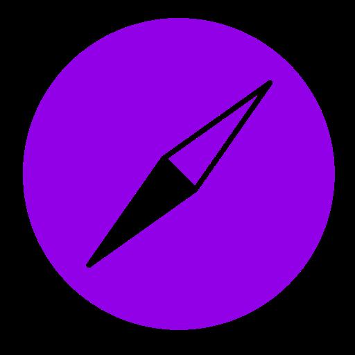 Icône Safari (symbole du logo png) violet