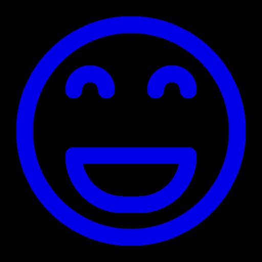 Icône de sourire bleu (symbole png)
