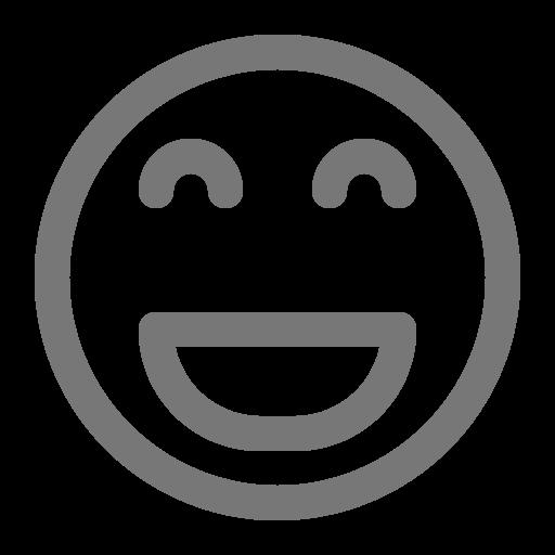 Icône de sourire gris (symbole png)