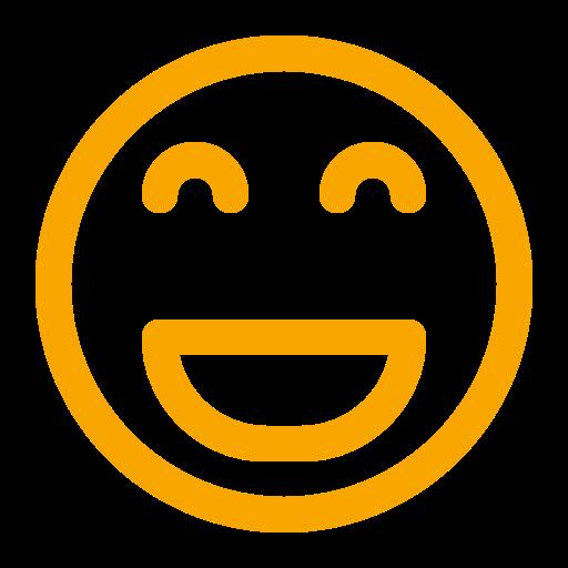 Icône de smiley jaune (symbole png)
