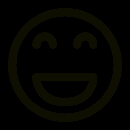 Icône de sourire noir