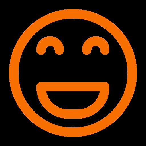 Icône de sourire orange (symbole png)