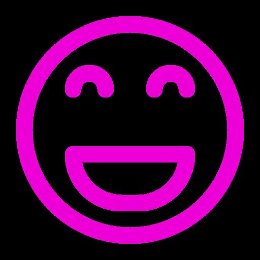 Icône de smiley rose (symbole png)