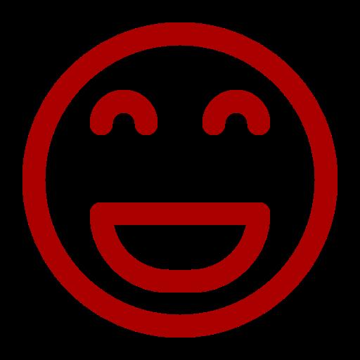 Icône de sourire rouge (symbole png)