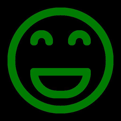 Icône de sourire vert (symbole png)