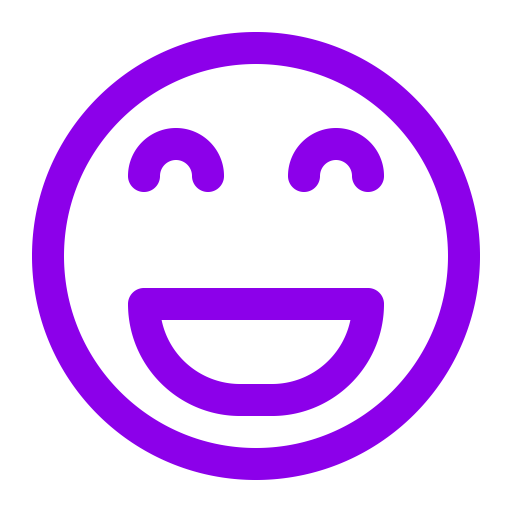 Icône de sourire violet (symbole png)