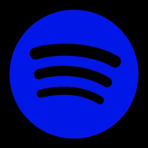 Icône Spotify bleue (symbole png)