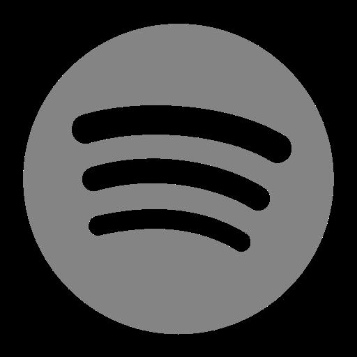 Icône Spotify grise (symbole png)