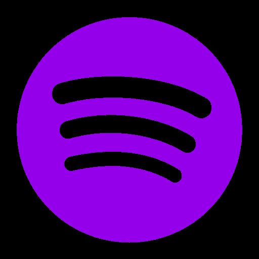 Icône Spotify violet (symbole png)