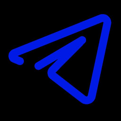 Icône de télégramme bleu (symbole du logo)