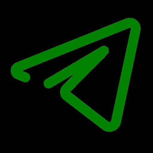 Icône de télégramme vert (symbole du logo)