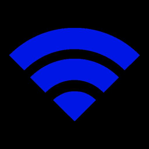 Icône Wifi bleue (symbole png)