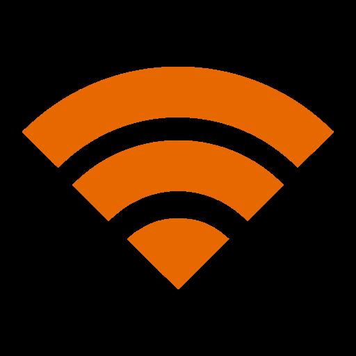 Icône Wifi orange (symbole png)