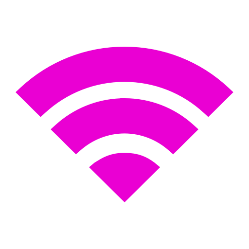 Icône Wifi rose (symbole png)
