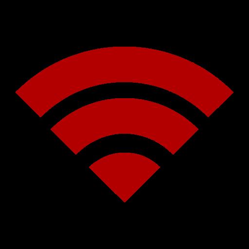 Icône Wifi (symbole png) rouge