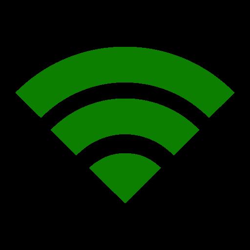 Icône Wifi verte (symbole png)