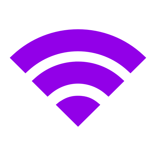 Icône Wifi violet (symbole png)