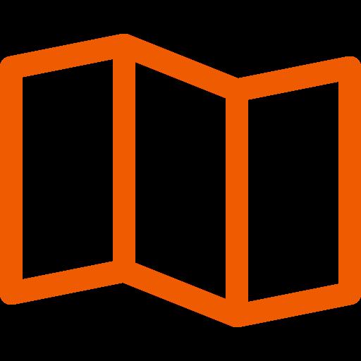 Icônes de carte orange (symbole png)