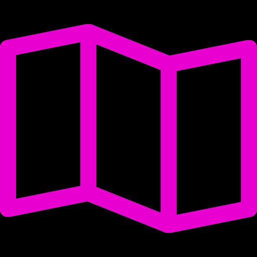 Icônes de carte (symbole png) rose