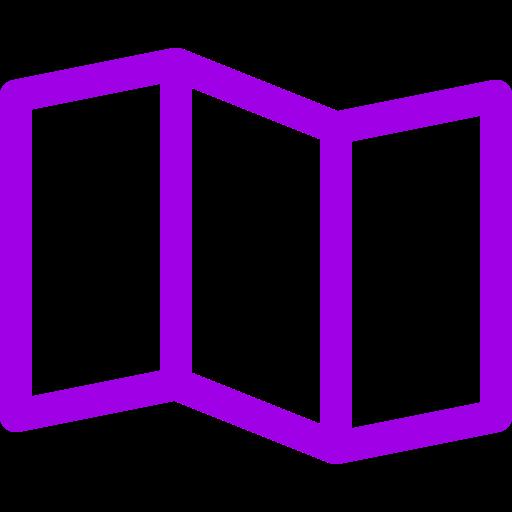 Icônes de carte violette (symbole png)