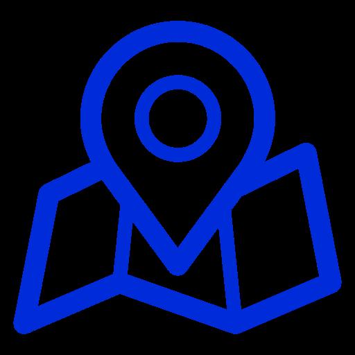 Icônes de localisation de la carte bleue (symbole png)