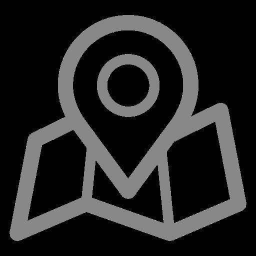 Icônes de localisation de la carte grise (symbole png)