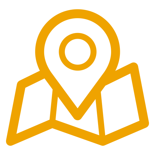Icônes de localisation de carte jaune (symbole png)