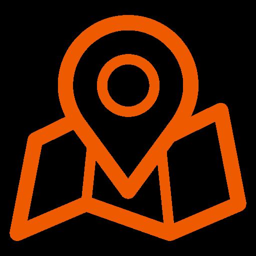 Icônes de localisation de la carte orange (symbole png)